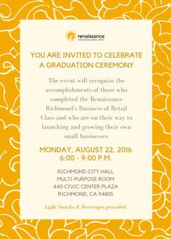 Business of Retail Graduation Invitation