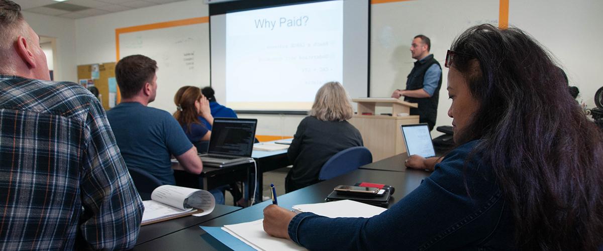 Students in Renaissance Entrepreneurship Center's Lean Start Up Class